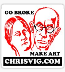 Go Broke, Make Art Sticker