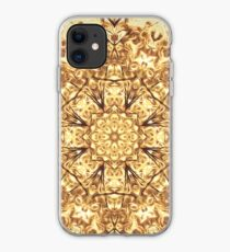 Gold Rush Mandala - Golden Ornate Art Deco Design iPhone Case