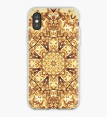 Gold Rush Mandala - Golden Ornate Art Deco Design iPhone Case
