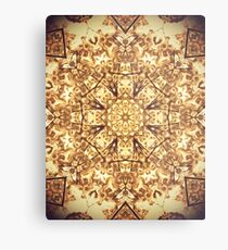 Gold Rush Mandala - Golden Ornate Art Deco Design Metal Print