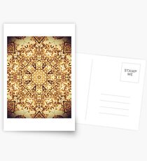 Gold Rush Mandala - Golden Ornate Art Deco Design Postcards