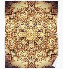 Gold Rush Mandala - Golden Ornate Art Deco Design Poster