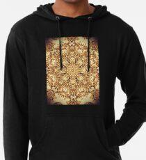 Gold Rush Mandala - Golden Ornate Art Deco Design Lightweight Hoodie