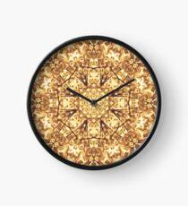 Gold Rush Mandala - Golden Ornate Art Deco Design Clock