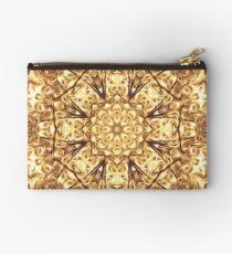 Gold Rush Mandala - Golden Ornate Art Deco Design Studio Pouch