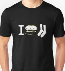 I Burger Socks - Dark Unisex T-Shirt