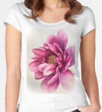 Peony Fitted Scoop T-Shirt