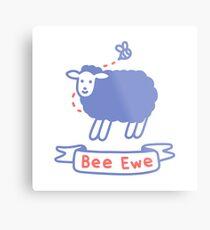 Bee Ewe Metal Print