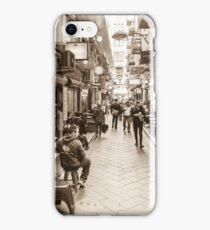 Center Place Breakfast Sepia iPhone Case/Skin
