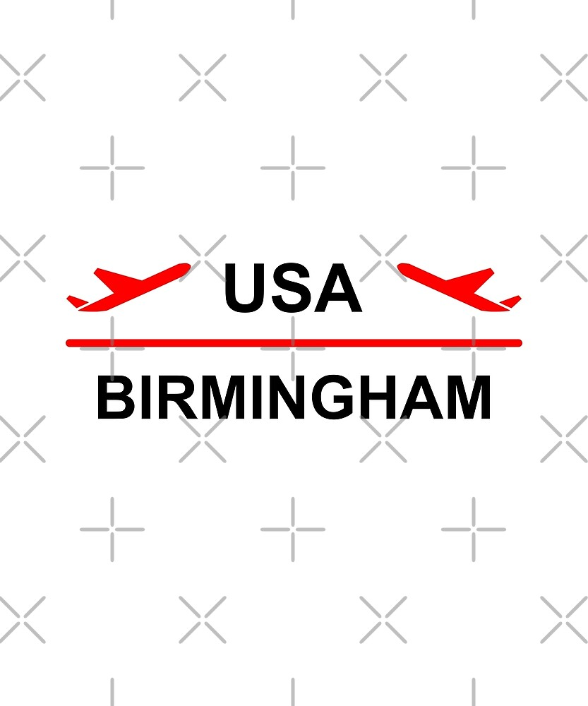 Birmingham USA Airport Plane Light-Color by TinyStarAmerica
