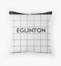 EGLINTON Subway Station Throw Pillow