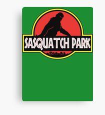 Sasquatch Park Bigfoot Parody T Shirt Canvas Print