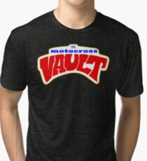The Motocross Vault White interior Tri-blend T-Shirt