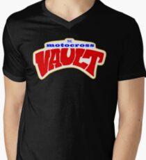 The Motocross Vault White interior V-Neck T-Shirt