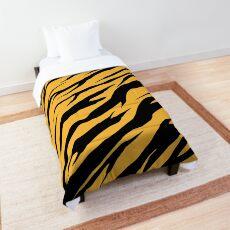 Zebra / Tiger Print Yellow Comforter