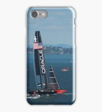 The America's Cup was a close race..... iPhone Case/Skin