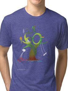 T-Shirt 50/85 (Social Security) by Benjamin Chen Tri-blend T-Shirt