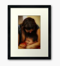 Aww Mom! Framed Print