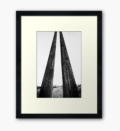 Nuclear Chopsticks Framed Print