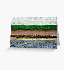 Road, Line, Kerb, Path, Step, Wall Greeting Card