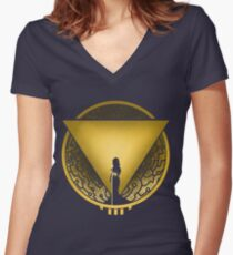 Cloudbank's Finest Women's Fitted V-Neck T-Shirt
