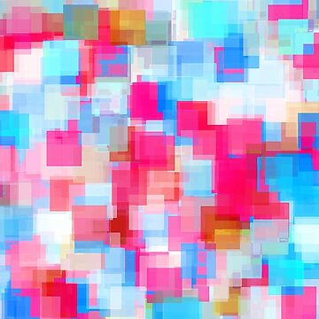 geometric square pattern abstract background in pink and blue by Mrvell