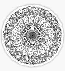 Pegatina Flor dibujada a mano 2