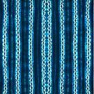 Teal Blue Tie Dye Pattern by Daniel Watts