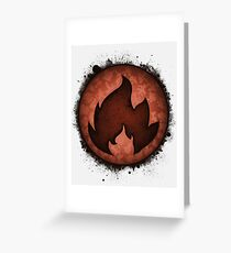 The Fire Types Greeting Card
