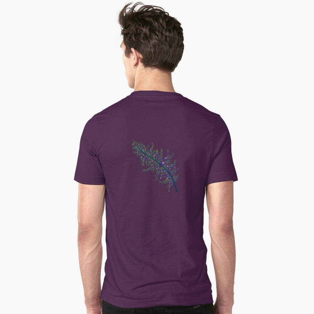 Peacock Feather Slim Fit T-Shirt