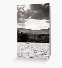 Spring in NH Landscape BW Greeting Card