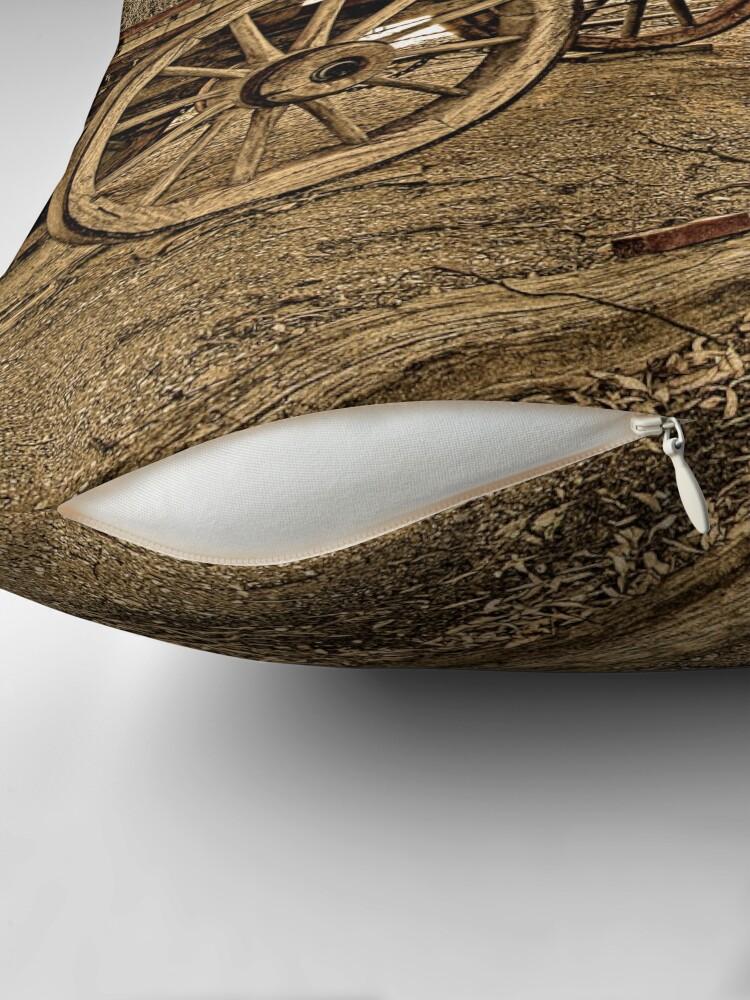 Alternate view of Wagon Wheels Throw Pillow