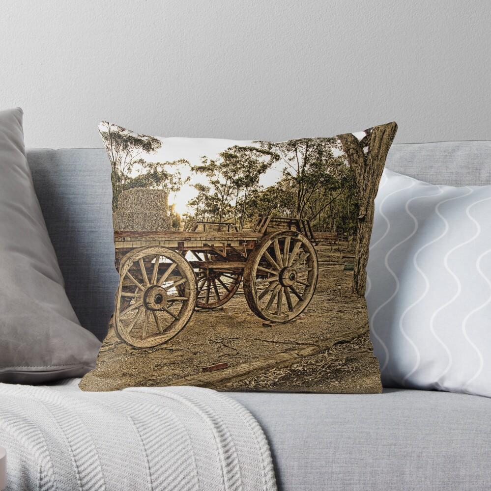 Wagon Wheels Throw Pillow