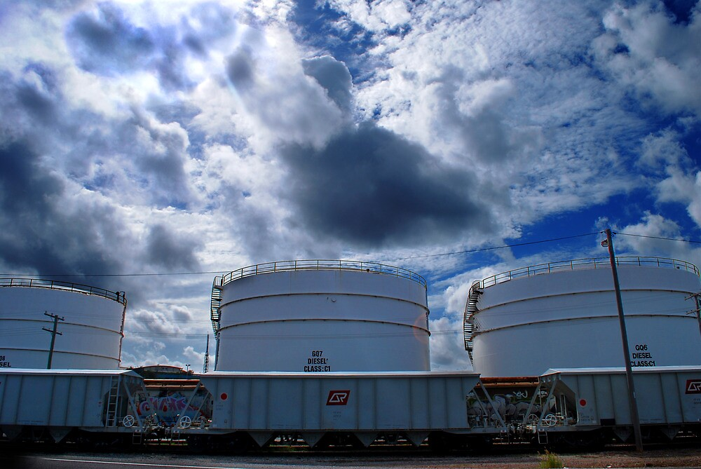 3 oil tanks by Mark Malinowski