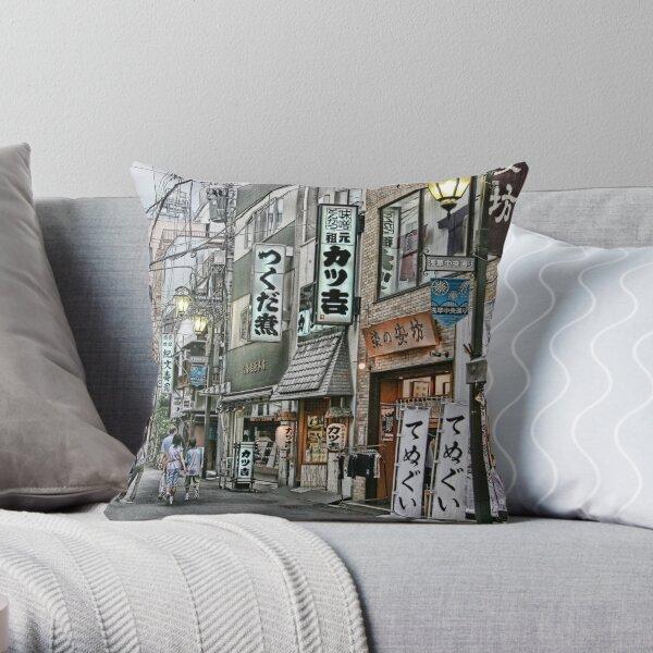 Tokyo  - Street scene by day II Throw Pillow