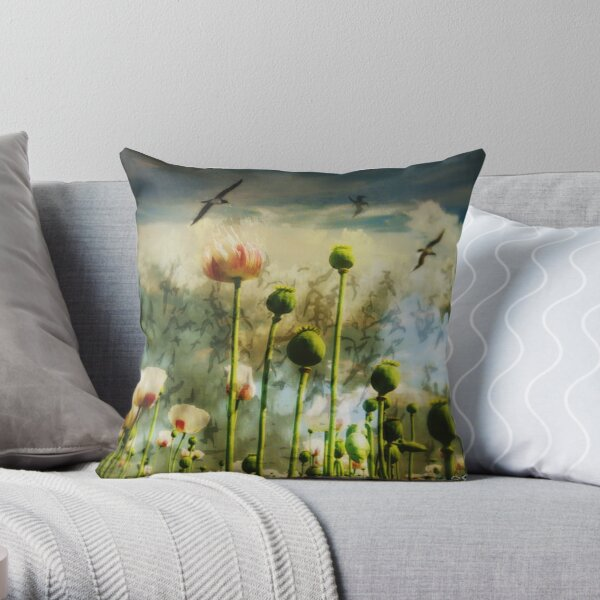 Let the flowers grow Throw Pillow