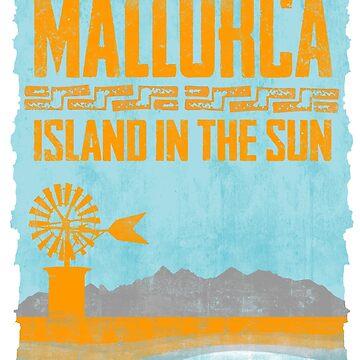Mallorca - Insel in der Sonne. Das Shirt für Balearen Liebhaber! von Periartwork
