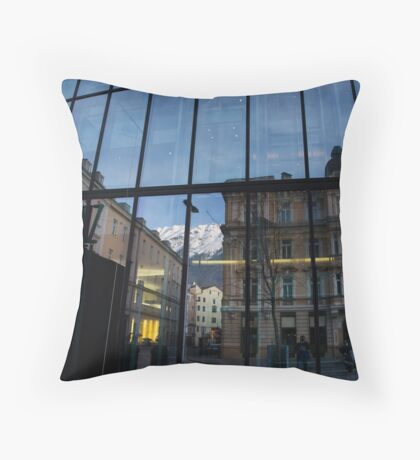 Hotel with a View Throw Pillow