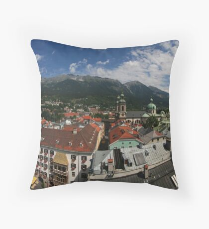 Postcard from Innsbruck Throw Pillow