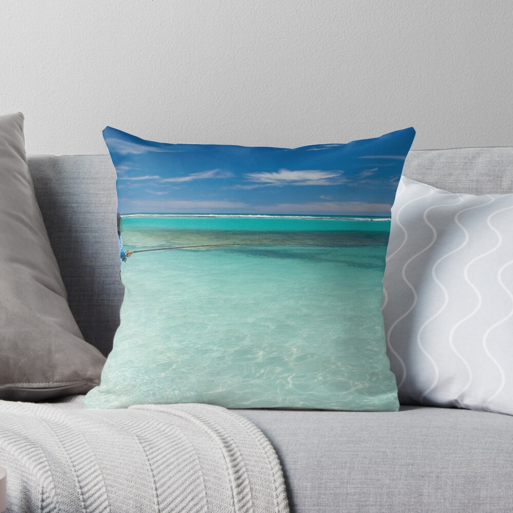 Fishermans Paradise. Throw Pillow