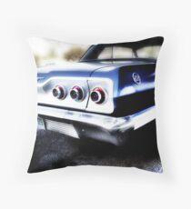 chevy impala, route 66, tulsa, oklahoma Throw Pillow