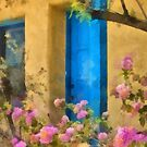 Blue Door in the Barrio by Linda Gregory