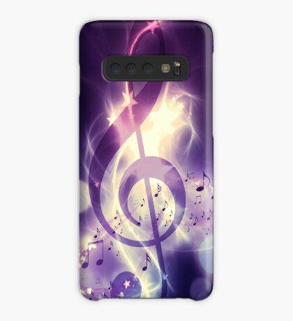 Glühender Musikhintergrund Hülle & Klebefolie für Samsung Galaxy