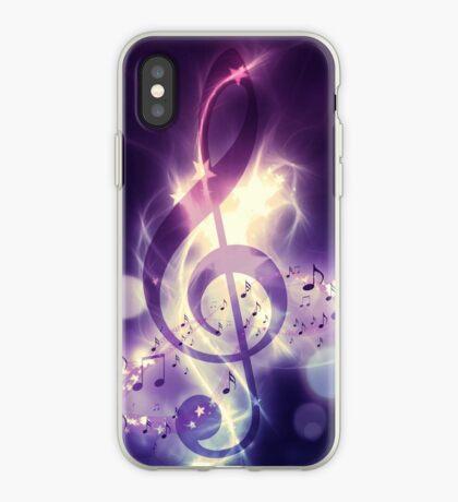 Glühender Musikhintergrund iPhone-Hülle & Cover