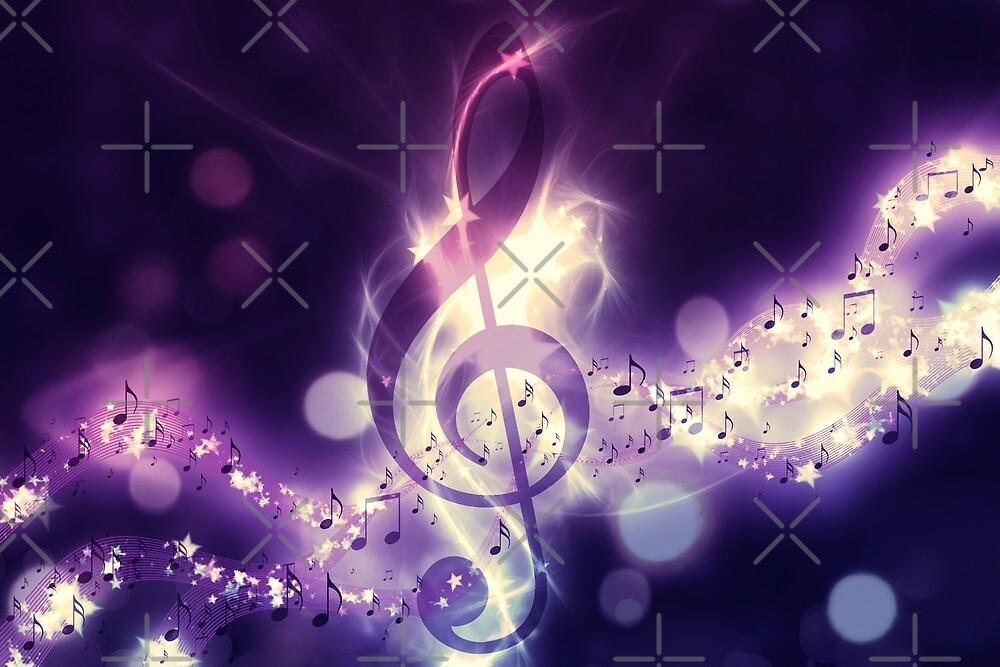 Glühender Musikhintergrund von AnnArtshock