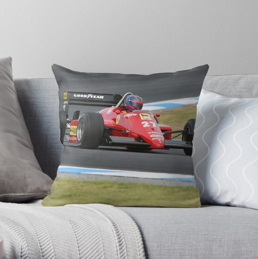 Ferrari F1 Throw Pillow