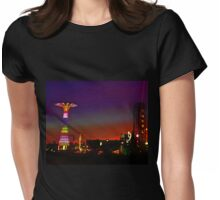 CONEY ISLAND'S AMUSEMENT PARK AND NEWLY CONSTRUCTED THUNDERBOLT RIDE. Womens Fitted T-Shirt