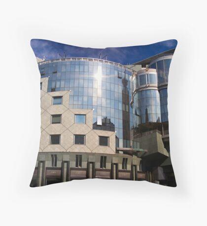 Blue Mirror Throw Pillow
