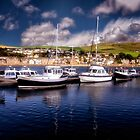 Boats in the Harbor - Scotland by Kathy Weaver