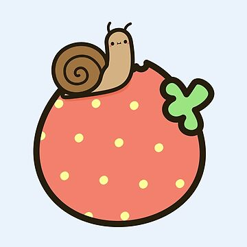 Cute snail on strawberry by peppermintpopuk
